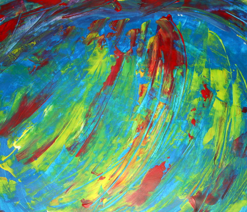 Tableau bleu feu au couteau photo de la cr ation du - Creation tableau photo ...
