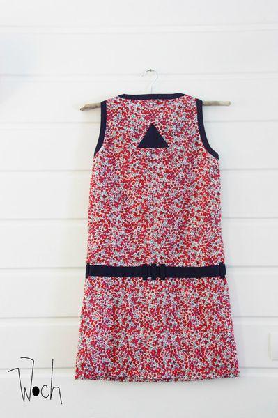 Woch robe été Liberty Wiltshire rouge taille M 4