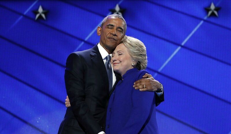 Obama and Hillary campaigning