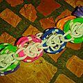 Bracelet rainbow loom multicouleurs