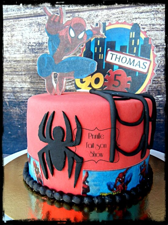 gateau spiderman prunillefee 2