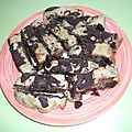 Gâteau chocolat - cranberries
