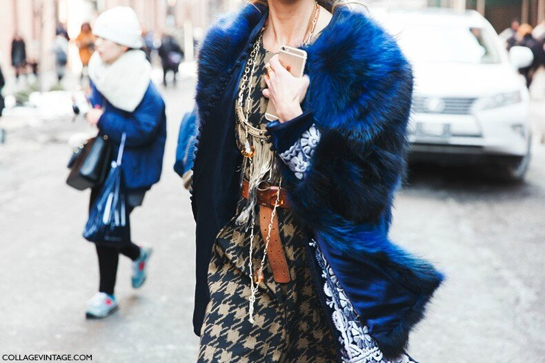 New_York_Fashion_Week-Fall_Winter_2015-Street_Style-NYFW-Blue_Fur_Coat--