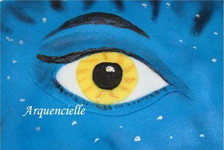Gâteau Avatar détail de l'oeil