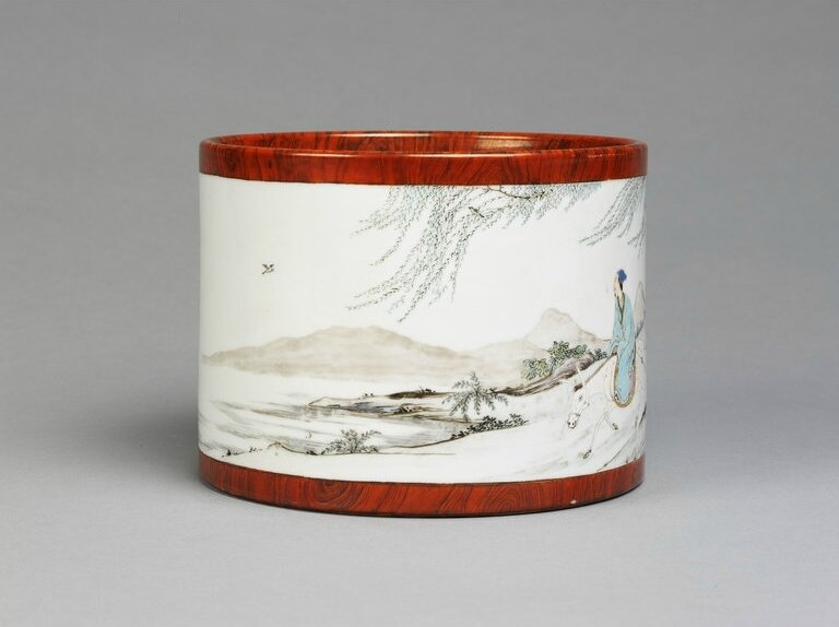 Brush pot, mark and reign of Yongzheng (1723-1735)