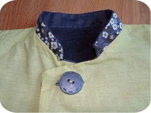 Manteau réversible Mila côté vert détail