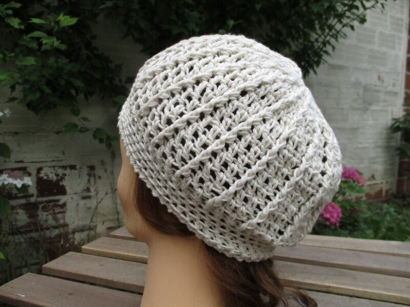 Bonnet simple en fil coton (6)