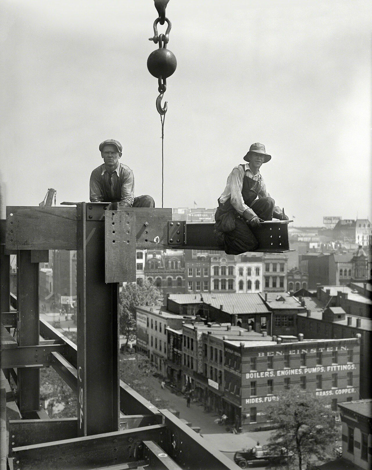 Workers on building under construction, Washington, D