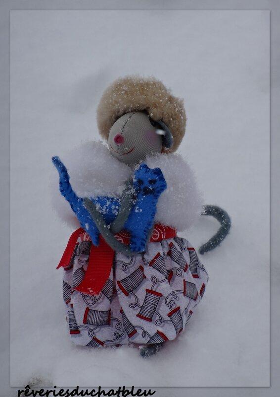 Souris à la neige Vosges1