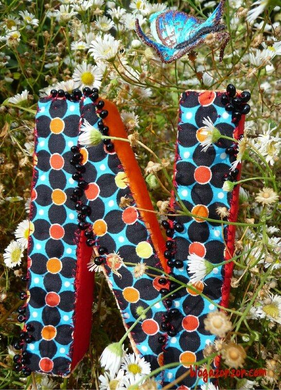 lettre N textile