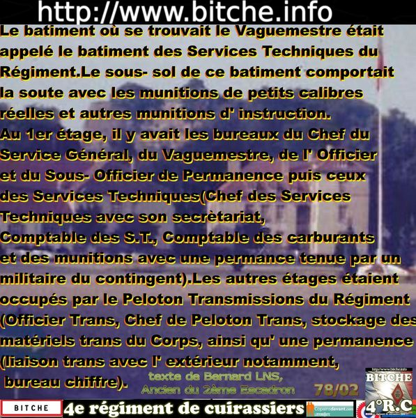 _ 0 BITCHE SERVICE TECHNIQUE du REGIMENT 002