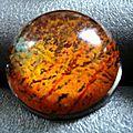 bague résine orange