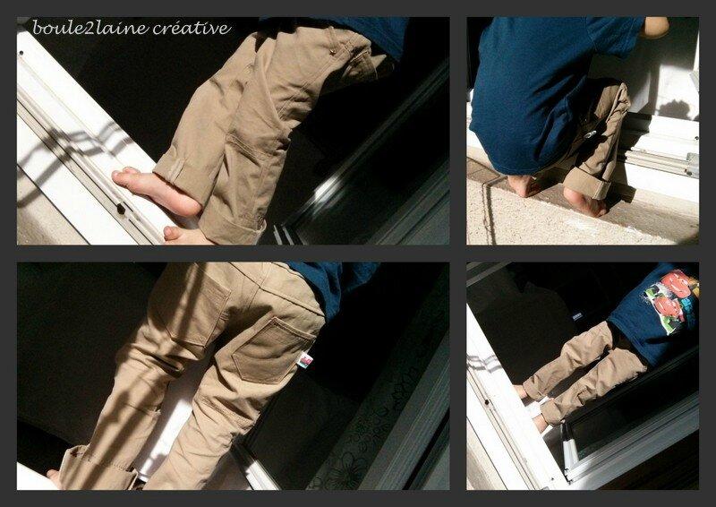 pantalon jap droit beige