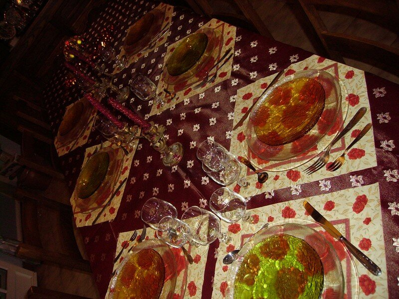 Reveillon jour de l 39 an 2005 2006 photo de les tables - Decoration table reveillon jour de l an ...