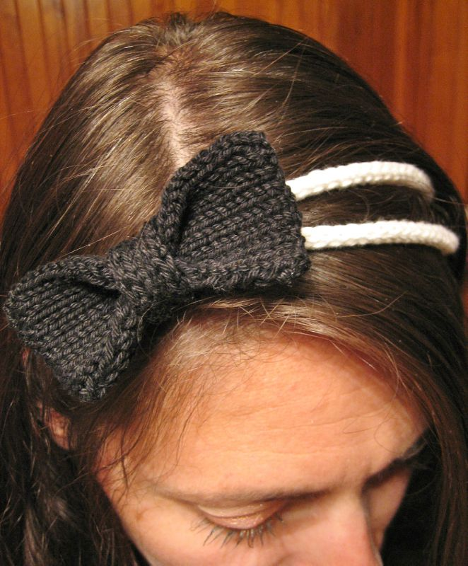 headband noeud B&W 005