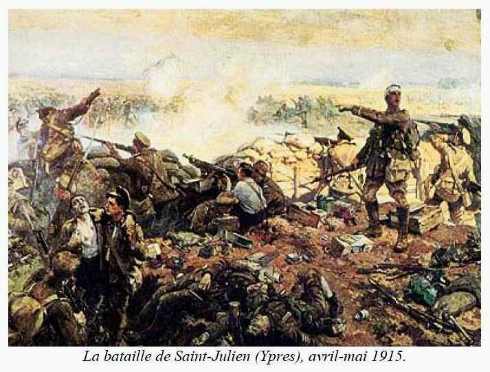 Bataille de St Julien Ypres