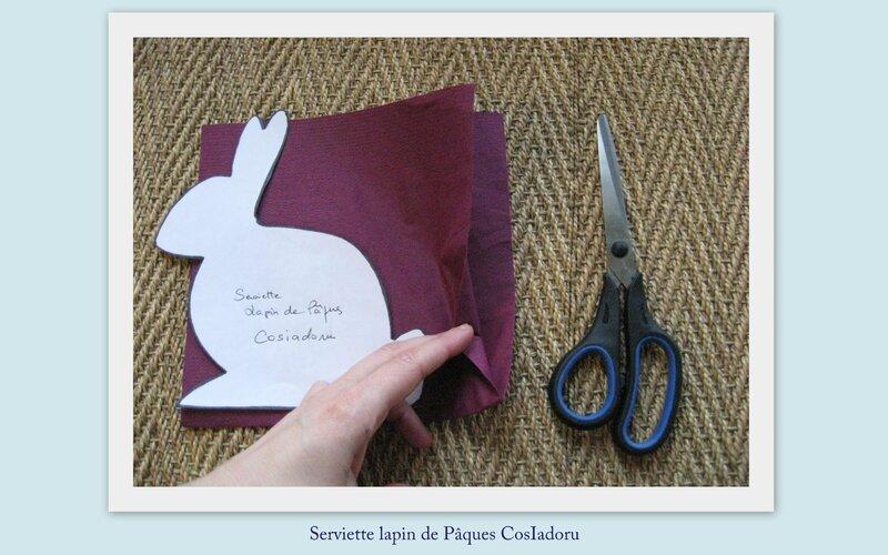 serviette lapin de Pâques1