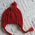 Bonnet péruvien de petit chaperon rouge