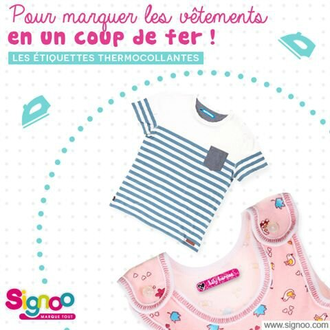 Etiquettes vêtements thermocollantes ©Signoo