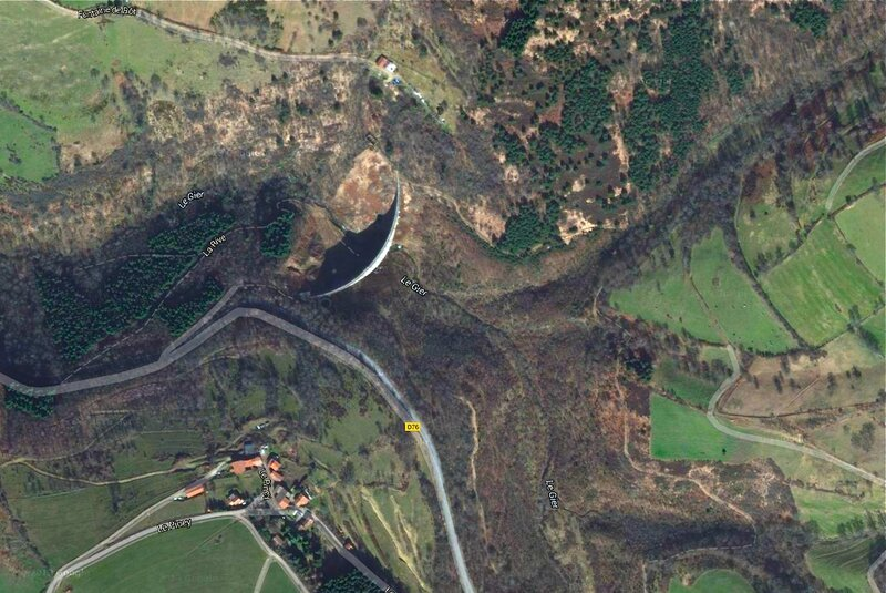barrage du Piney photo satellite