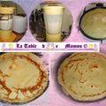 Crêpes fourées au fromage blanc et aux fruits rouges
