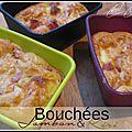 Bouchées au jambon & kiri