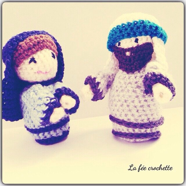Personnages pour la cr che de no l cocooning crochet - Personnage creche de noel ...