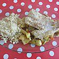 Filet de daurade, quinoa et ses petits légumes croquants...