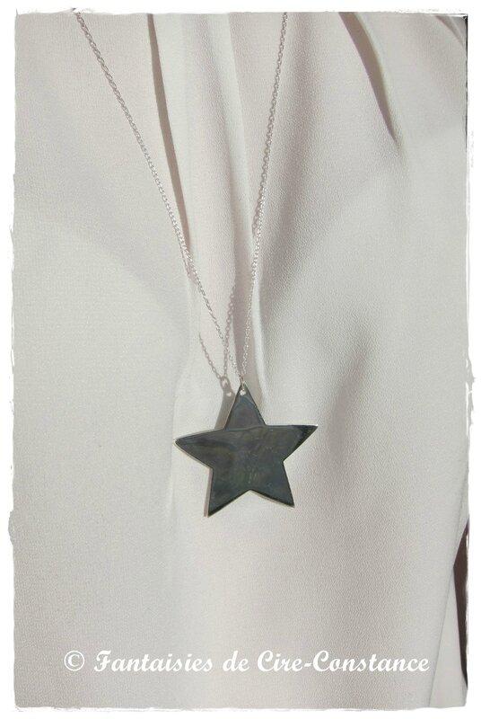 Sautoir étoile argent massif-3