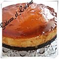 Gâteau au chocolat et flan caramel ,gâteau magique 3 en 1