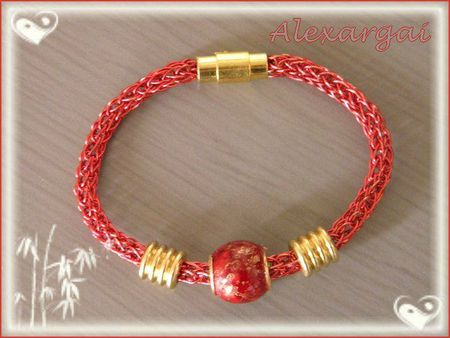 Bracelet Viking Knit Rouge