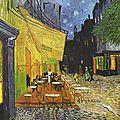 Terrasse du café le soir vincent van gogh
