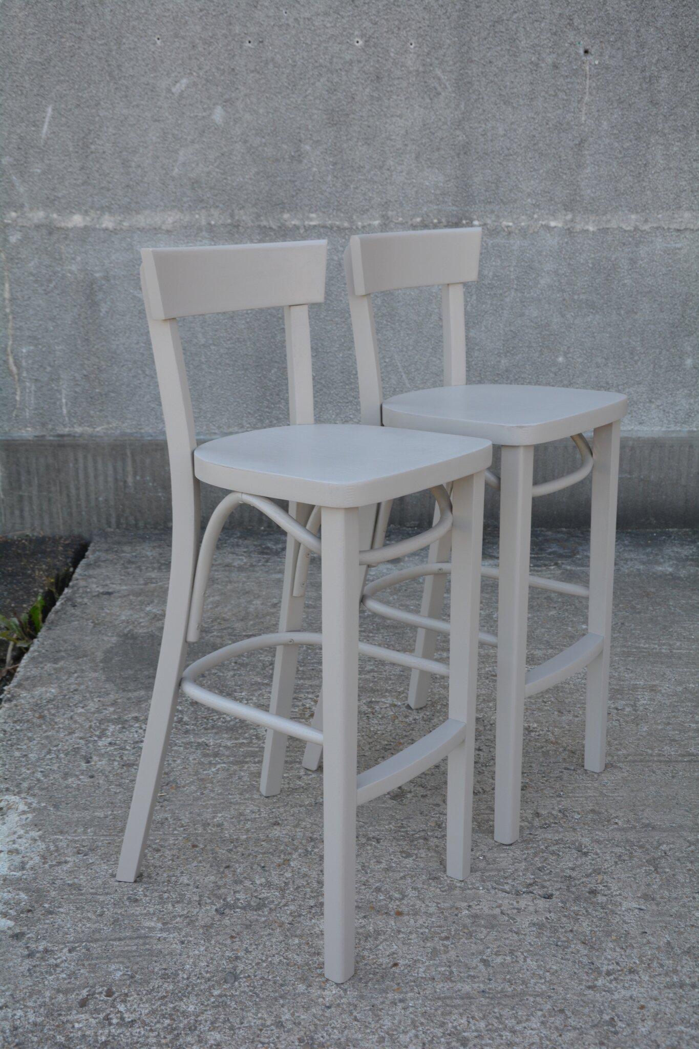 chaises de bar de style thonet la petite brocanteuse. Black Bedroom Furniture Sets. Home Design Ideas