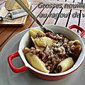 Grosses nouilles au ragoût de veau