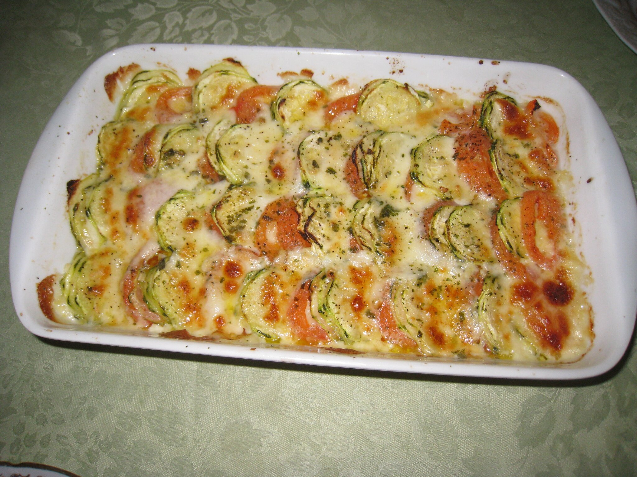 gratin tomates mozzarella courgettes les petits plats de mimimarie. Black Bedroom Furniture Sets. Home Design Ideas