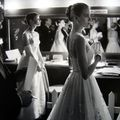 Allan Grant: Audrey Hepburn and Grace Kelly backstage at the 28th Annual Academy Awards, Hollywood, California, 1956 