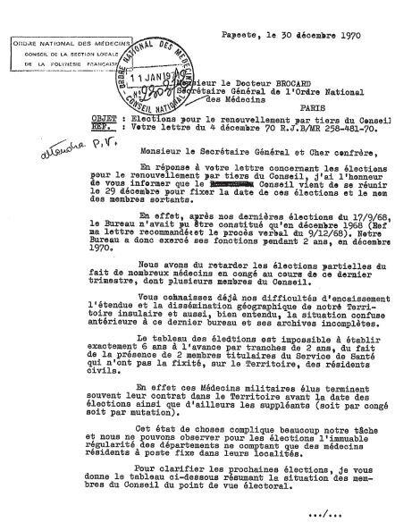 Ordre national des médecins de Polynésie Française_1