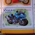 Roadster VOXAN sur timbre français