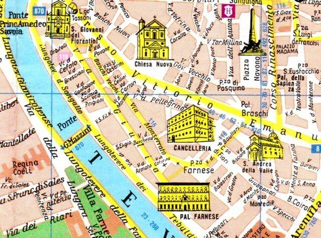 regola le quartier du palais farnese 1 12 le quartier de regola notes d 39 itin rances. Black Bedroom Furniture Sets. Home Design Ideas