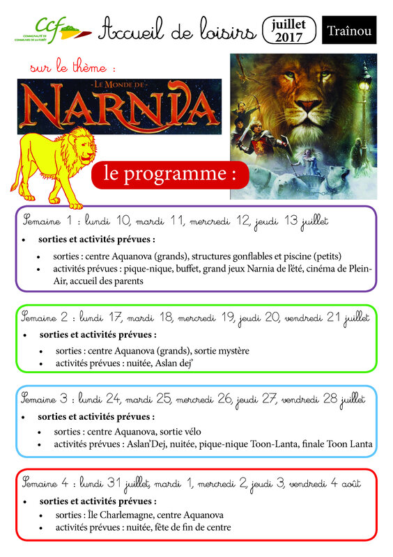planning juillet trainou