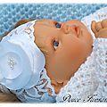 Bandeau en dentelle fleur satin blanc pour bébé baptême