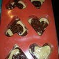 Coeur marbré d'épices avant cuisson