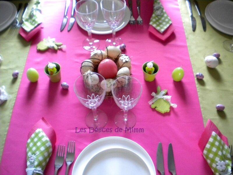 Ma table de Pâques en rose fuchsia et vert, pleine de peps 3