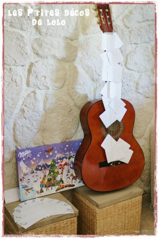 calendrier de l'avent guitare