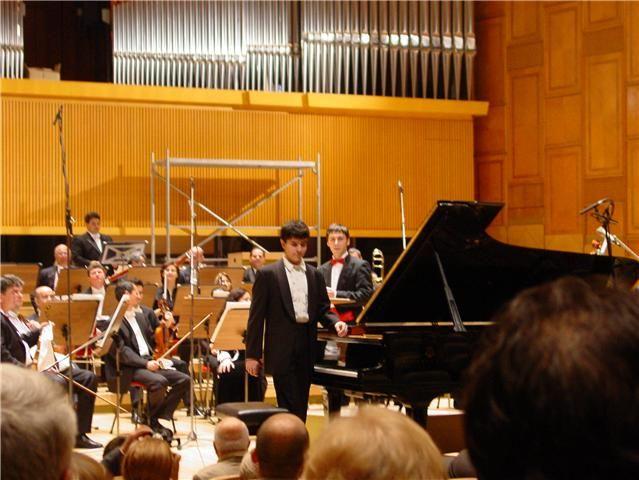 Ingmar avec le chef d'orchestre Constantin Adrian Grigore