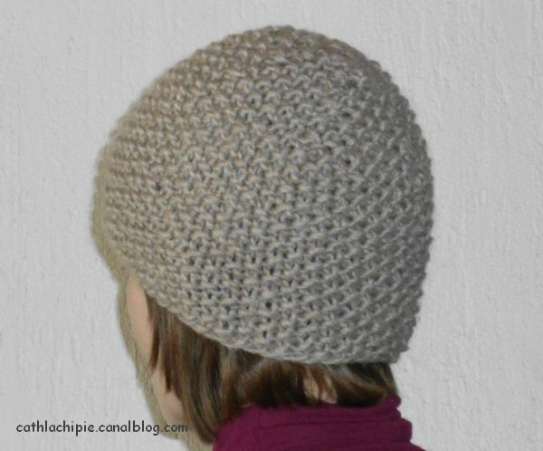 patron tricot bonnet point de riz