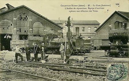 SNCF HIRSON ATELIER DE REPARATION 1906