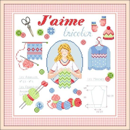 Jaime tricoter cadre corail G