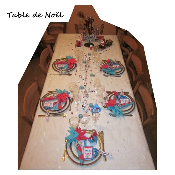 Nouvelle pr sentation de table pour no l et nouvel an - Presentation de table de noel ...