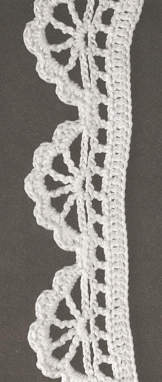 Les bordures au crochet 55 le monde de c l naa - Bordure de finition au crochet ...